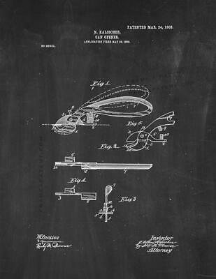 Can Opener Patent Print Chalkboard