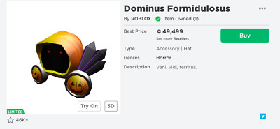 Roblox Limited Dominus Formidulosus 🔥 Cheap & Clean!!!  55,000 R$ Value!