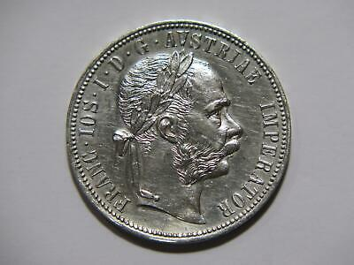 Austria 1879 Florin Franz Joseph I Low Grade Damaged Silver World Coin 🌈⭐🌈