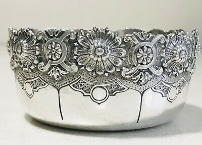 Antique European solid silver bowl ,Portugal, year late 19th century