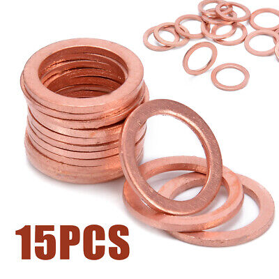 10 x 12MM COPPER SEALING SUMP PLUG BANJO BOLT SEAL WASHERS  OIL SUMP PLUG KW127