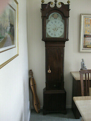 longcase Grandfather clock .Mahogany case 8 day .John Young Dublin