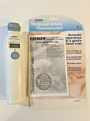 Exergen Temporal Artery Thermometer Scan Baby Sleeping Child Family Easy To use