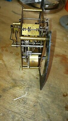 2 x Used Brass Clock Movements Post 1900, working but sold as Spares or Repairs.