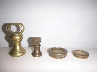 Vintage Brass Bell Weights 1lb & 4oz with Brass 8oz and 4oz weights