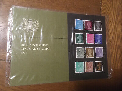 """GB 1971 First Decimal Stamps Presentation Pack """"Scandanavia '71"""" Special Issue"""