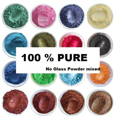 Natural Mica Powder, DIY Wax Candle Melts Bath Bombs Cosmetic Soap Dye UK