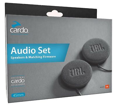 Cardo Motorcycle Helmet 45mm Audio Set (Black, One Size)