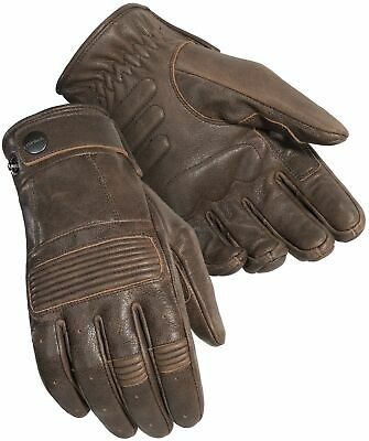 Cortech Men's Duster Leather Motorcycle Gloves (Brown, Medium)