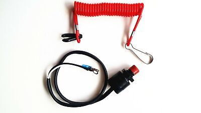 Boat Motor Kill Stop Switch & Safety Tether Lanyard for Yamaha Outboard Motors