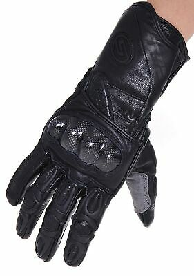 Seibertron SP2 SP-2 Men's Leather On-Road Motorcycle Gloves Genuine Leather M...
