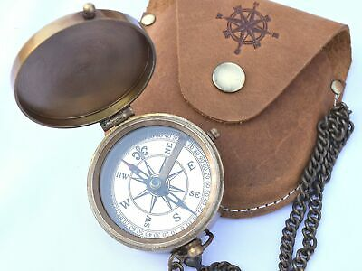 Brass Pocket Compass, Engravable Compass, Eagle Scouts Gifts, Camping Compass...