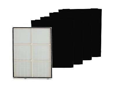 Replacement HEPA Filter with 4 Pre-Carbon Filters Compatible with Whirlpool W...
