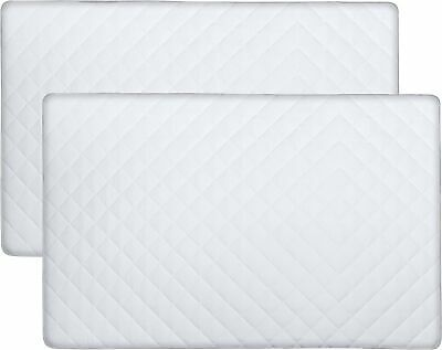Utopia Bedding Waterproof Crib Mattress Protector (2 Pack) - Quilted Crib Fit...