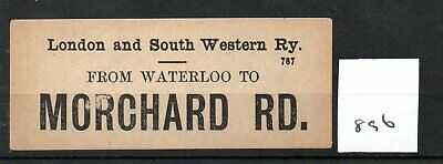 London & South Western Railway LSWR - Luggage Label (896) Morchard Road