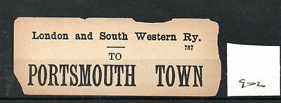 London & South Western Railway LSWR - Luggage Label (902) Portsmouth Town