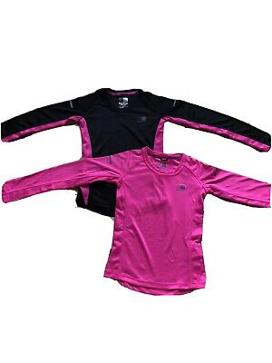 2 X Girls Long Sleeved Running/sports Top With Reflective Bands- Karrimor