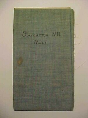 """""""Southern New Hampshire, West""""  23"""" x 17"""", paper on silk, Plainfield to Mason"""