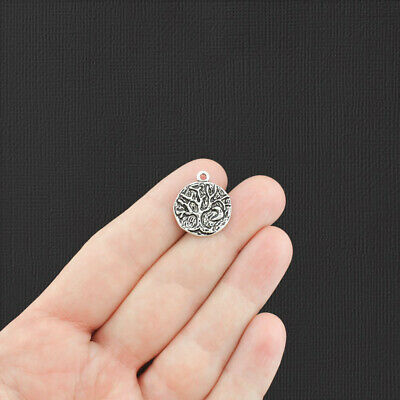 5 Tree of Life Antique Silver Tone Charms SC7993