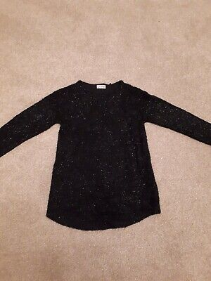 Girls black sparkly jumper/tunic - Next - 8 years