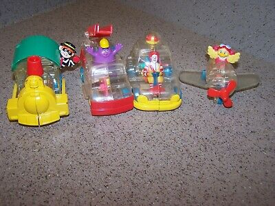 1998 set of 4 McDonald's X-Ray Riders complete - Happy Meal Toys