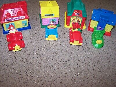 8 RARE - MdDonalds Happy Meal Toys - BUILDING & VEHICLE 1993
