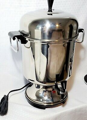 Vntg Farberware 55 cup Stainless Steel Automatic Coffee Urn Percolator Made USA