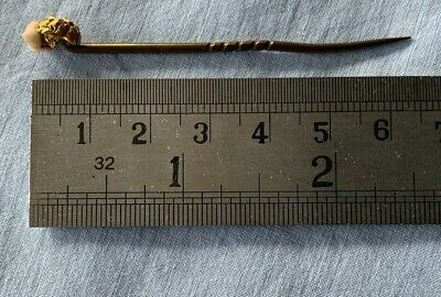 Antique Gold Nugget tie pin total weight 2.1gms