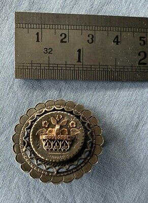 Antique Sterling silver and Gold Brooch