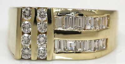 Exceptional Men's 14K Yellow Gold Ring With 1.00 Ctw Diamonds! 7.9 Grams #Z34