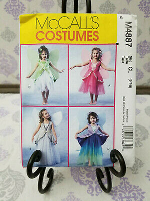 McCall's Costumes #M4887 Sizes 6-7-8 FAIRIES Dress & Wings UNCUT