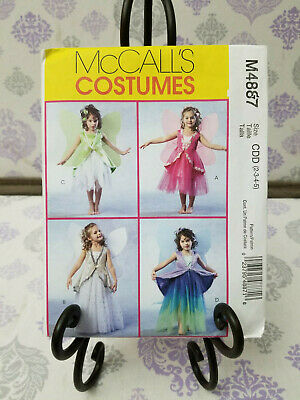 McCall's Costumes #M6813 Sizes 6-7-8 FAIRIES Dress & Wings UNCUT