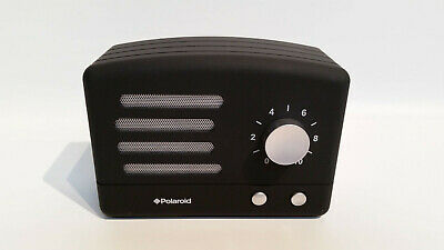 Polaroid PBT530 Wireless Bluetooth Portable Retro Speaker Black Silver