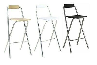 Sqaure Seat Stool Fold Able Chair Home Kitchen Bar Office Use In Various Colors