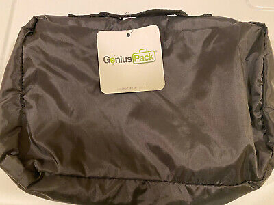 GENIUS PACK-Compression Packing Cubes – Set of 3-Luggage Organizer Bags-BLACK