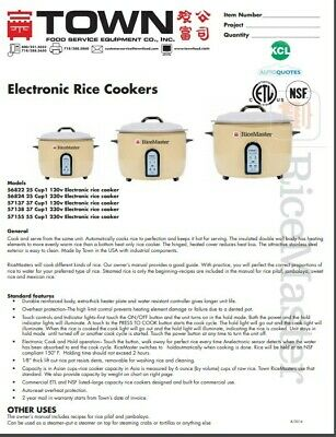 Rice Cooker 37 Cup Electric #57137 120V New Still In Box