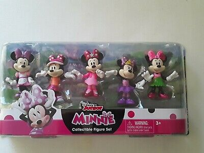 DISNEY JUNIOR MINNIE MOUSE 8 PIECE COLLECTIBLE FIGURE SET NEW