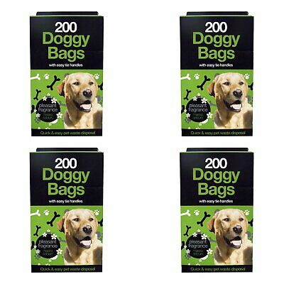 1000 Dog Poo Bags Scented Double Standard Puppy Poop Tie Handles Doggy Waste UK