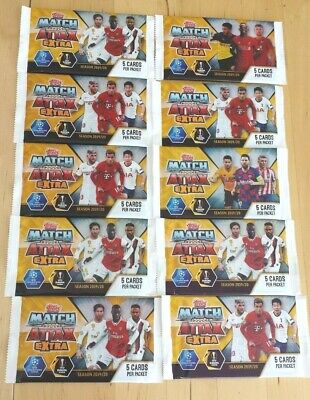Match Attax Extra Season 2019/20 Trading Game Card Packs Champions/Europa League