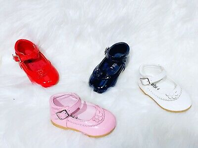 new Girls Baby Toddler kids Spanish Wedding Style Flats Party Casual Shoes Size