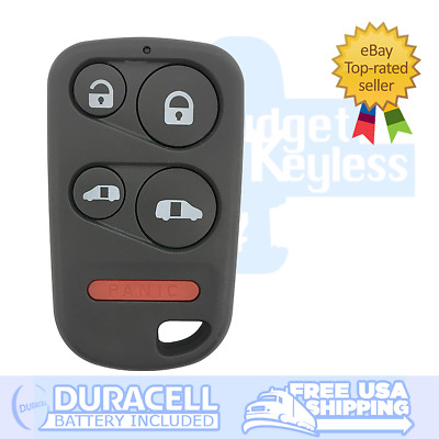 OEM 5 Button 2001-2004 Honda Odyssey Keyless Entry Remote w//New Duracell Battery OUCG8D-440H-A