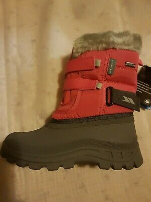 Kids Girls Winter Boots 3M Reflective HOT FLOW Waterproof Eur 30//35 UK12//2 WHITE