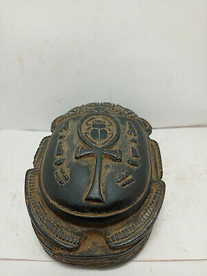 RARE ANCIENT EGYPTIAN ANTIQUE SCARAB Key Life Carved Stone 1798-1569 BC (8)