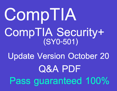 CompTIA Security+ SY0-501 Exam Dump Q&A PDF