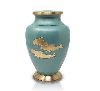 Large Urns for Human Ashes, Adult Urn Funeral Urn Cremation Urn Dolphins