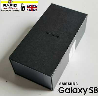New Samsung Galaxy S8 SM-G950 - 64GB - Midnight Black 4G (Unlocked) Smartphone