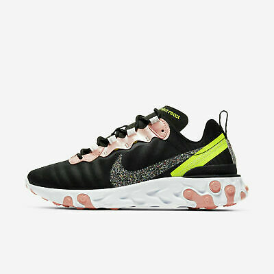 WMNS NIKE REACT Element 55 Black Solar Red Women Running