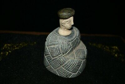 A Very Rare One of  A Kind Ancient Bactrian Emperor Stone Composite Idol/Statue