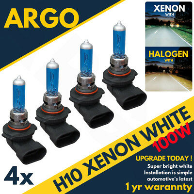 4 X H10 100w 8500k Xenon Hid Super Blanc Effet Phare Lampes Ampoules 12v
