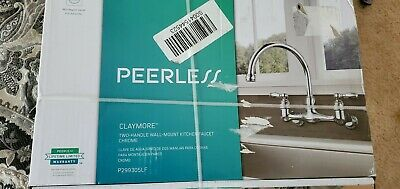 Peerless Choice 2 Handle Wall Mount Kitchen Faucet Chrome Ergonomic Standard 77 51 Picclick